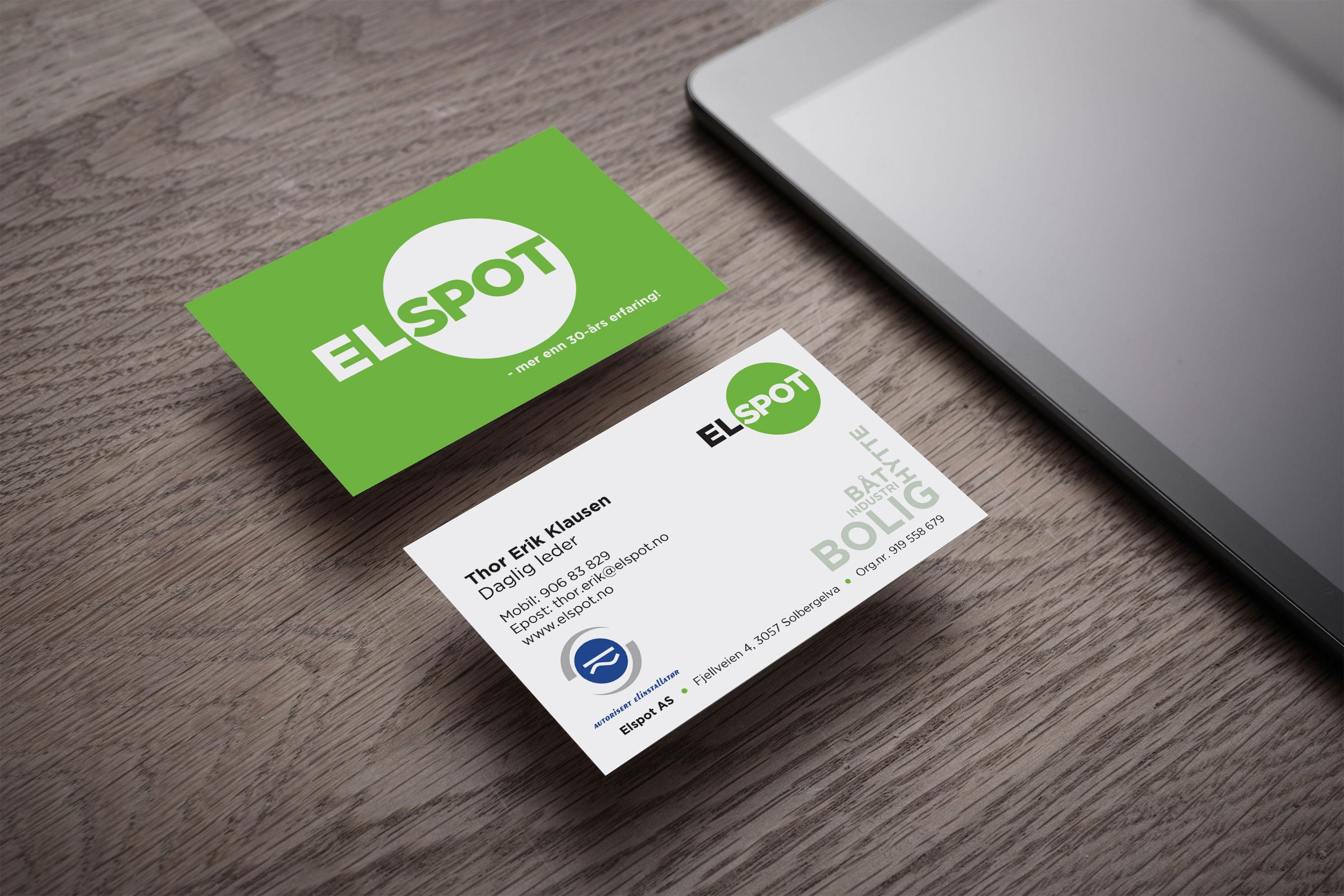 Identitet Nettside Elspot Visittkort