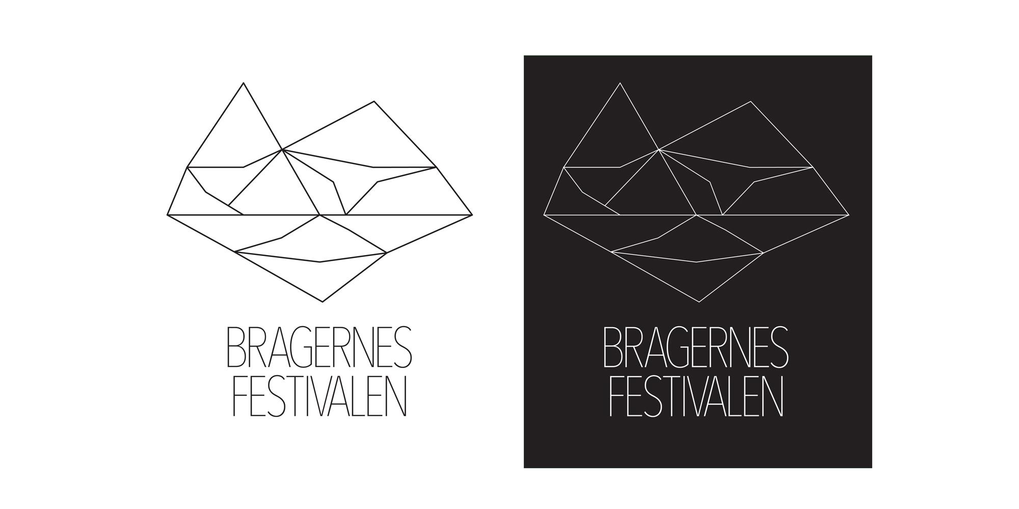 Logo for Bragernesfestivalen i sort og hvit