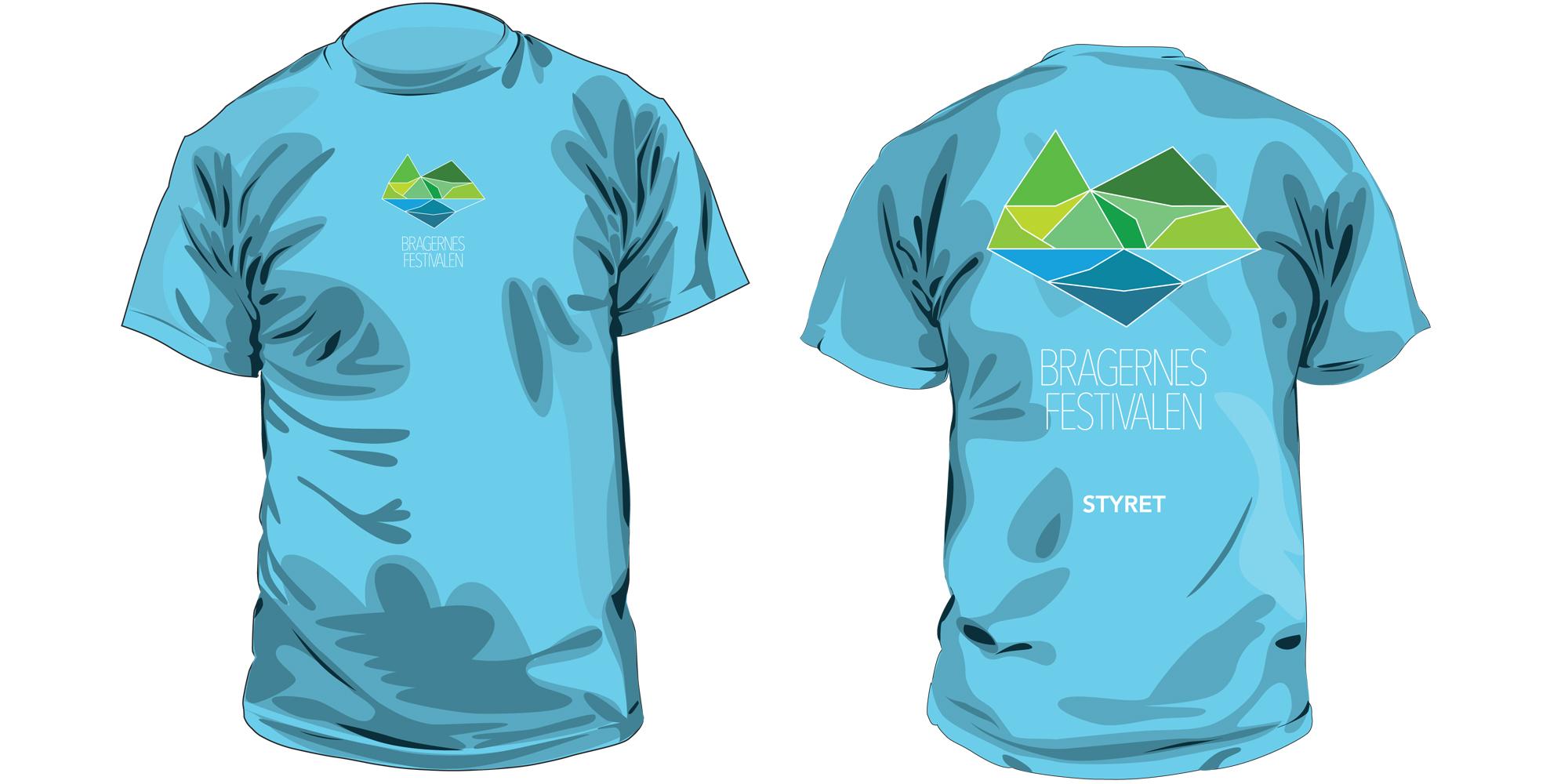 T-skjorte med logo for Bragernesfestivalen