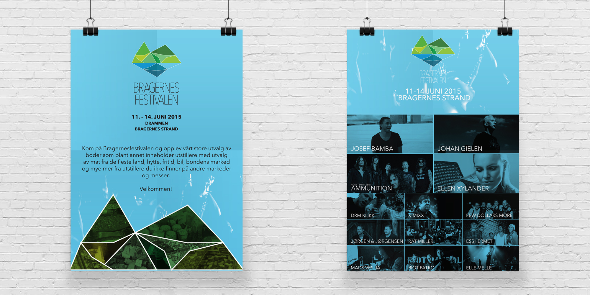 Design av plakter for Bragernesfestivalen