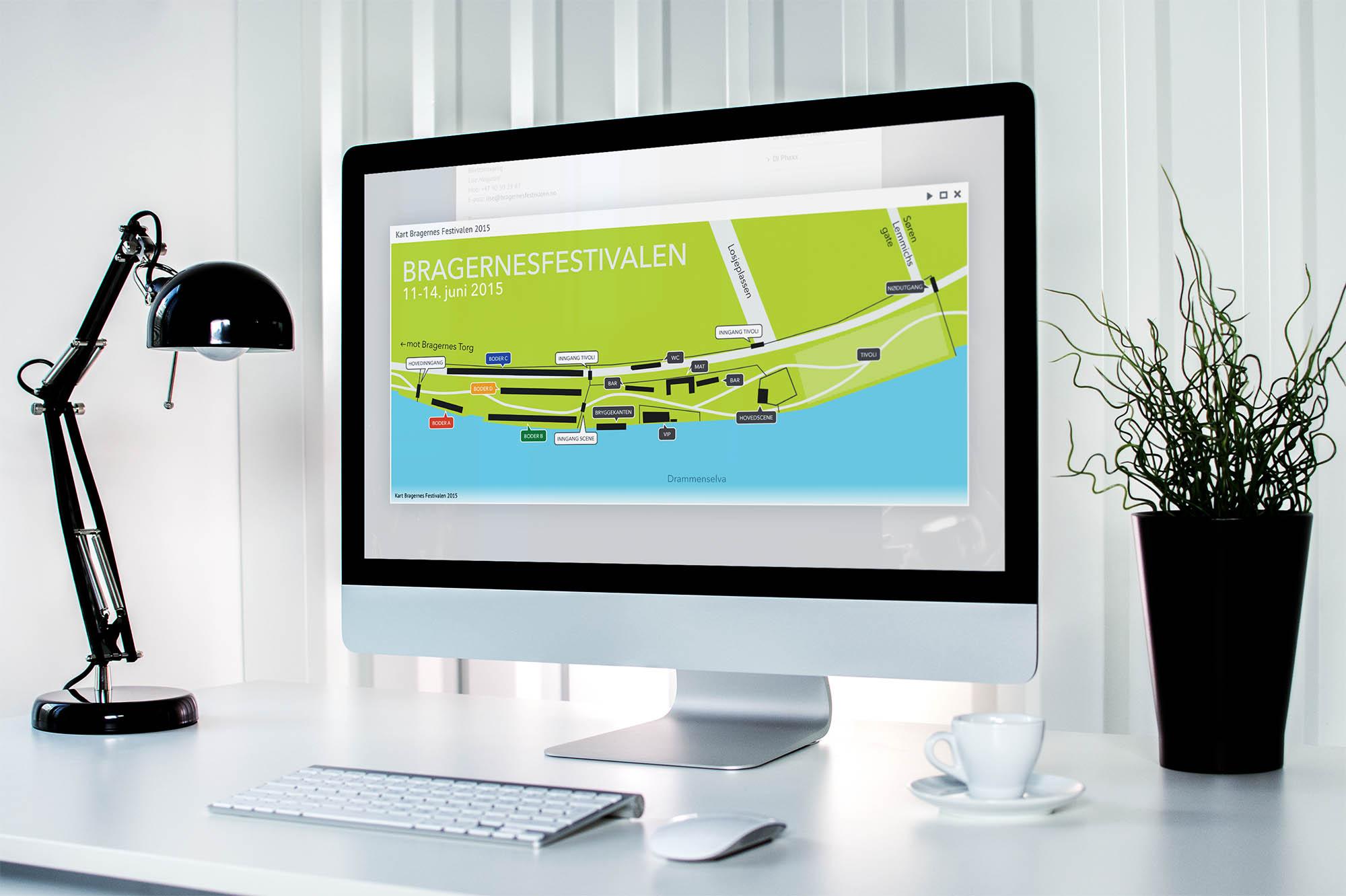 Bragernesfestivalen sin nettside designet av VIAVISIO