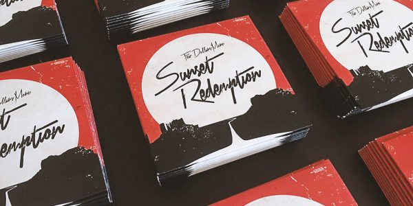 Design av identitet og nye nettsider for albumet Sunset Redemption av Few Dollars More