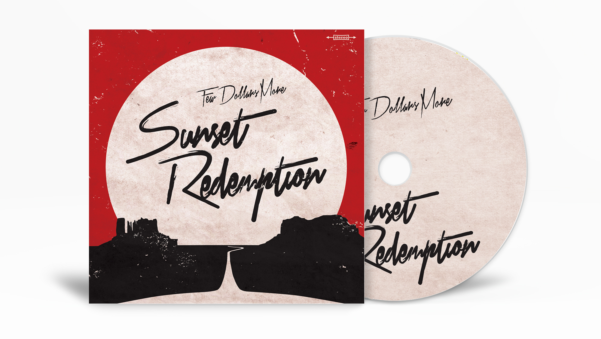 Design av album cover til Sunset Redemption av Few Dollars More