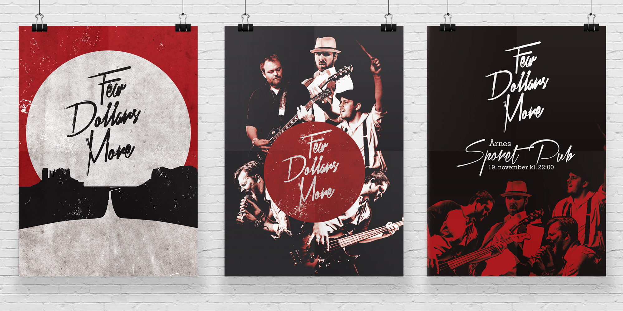 Design av konsertplakater for Few Dollars More