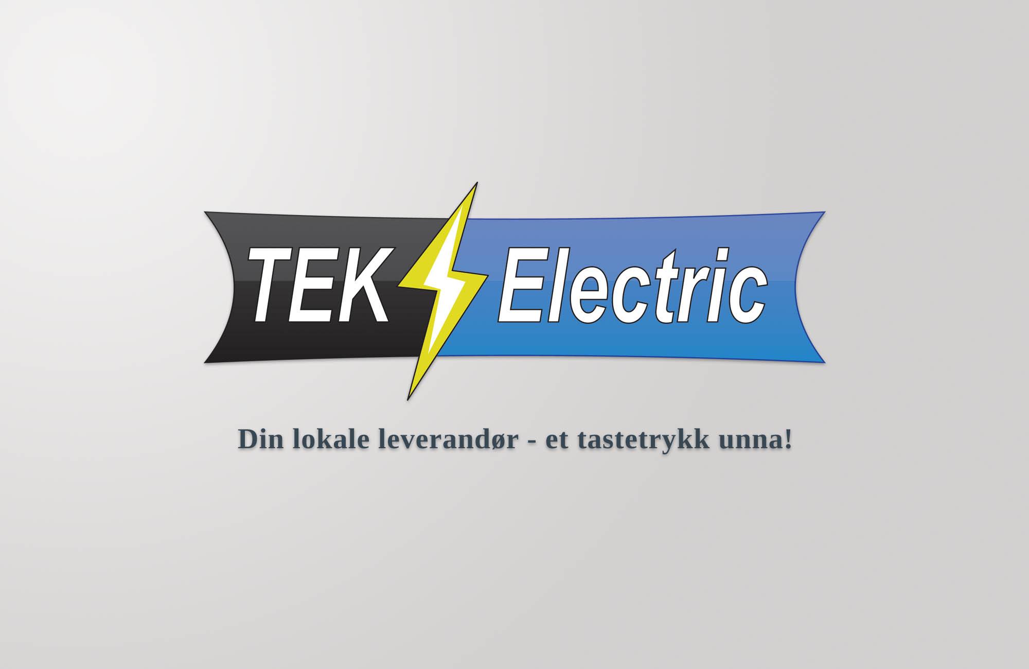 TEK Electric sin logo designet av VIAVISIO