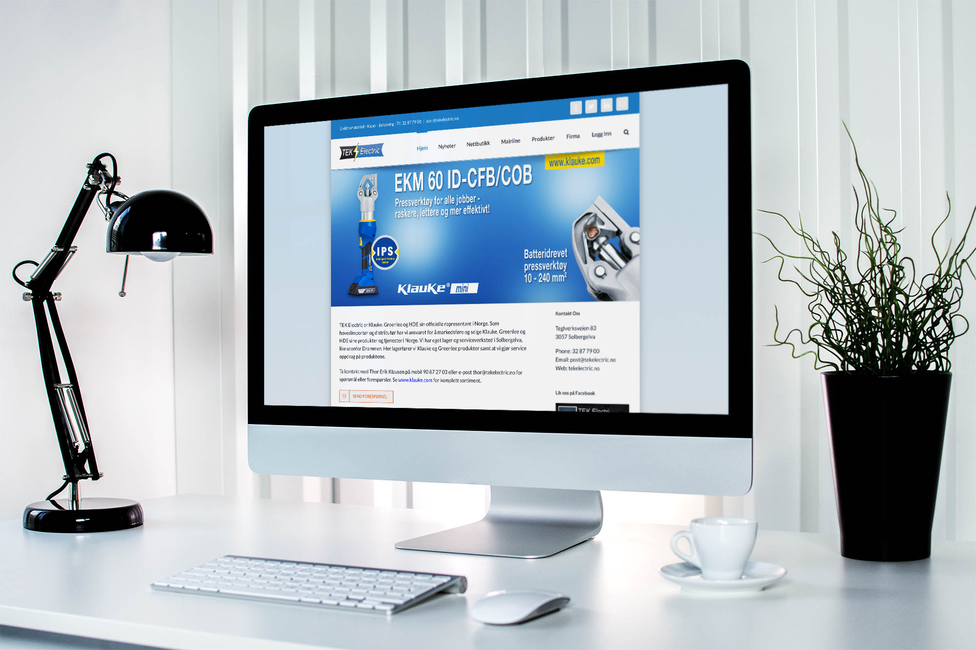 Design av bedriftsidentitet og nye nettsider for TEK Electric