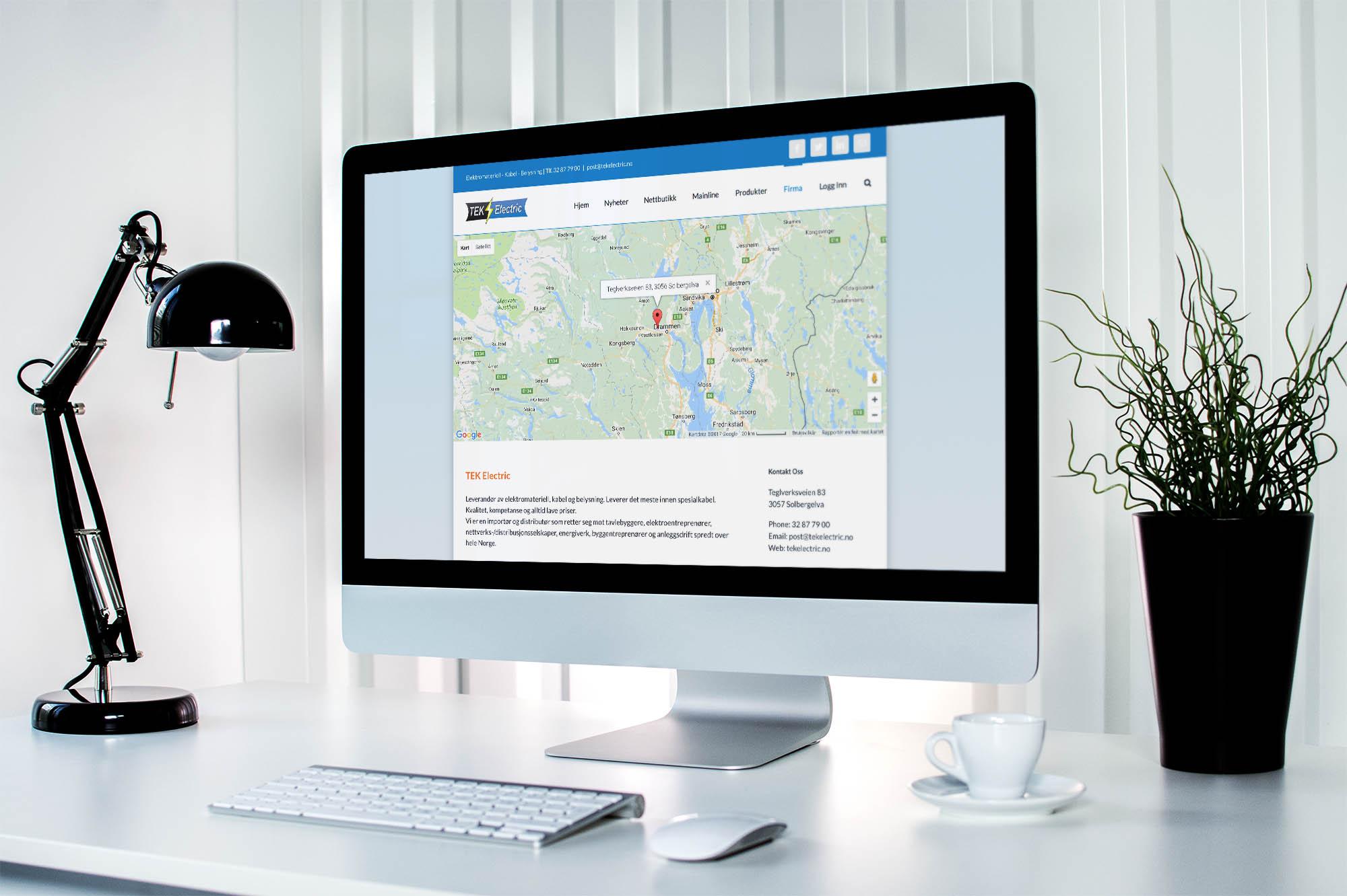 Design av nye nettsider for TEK Electric