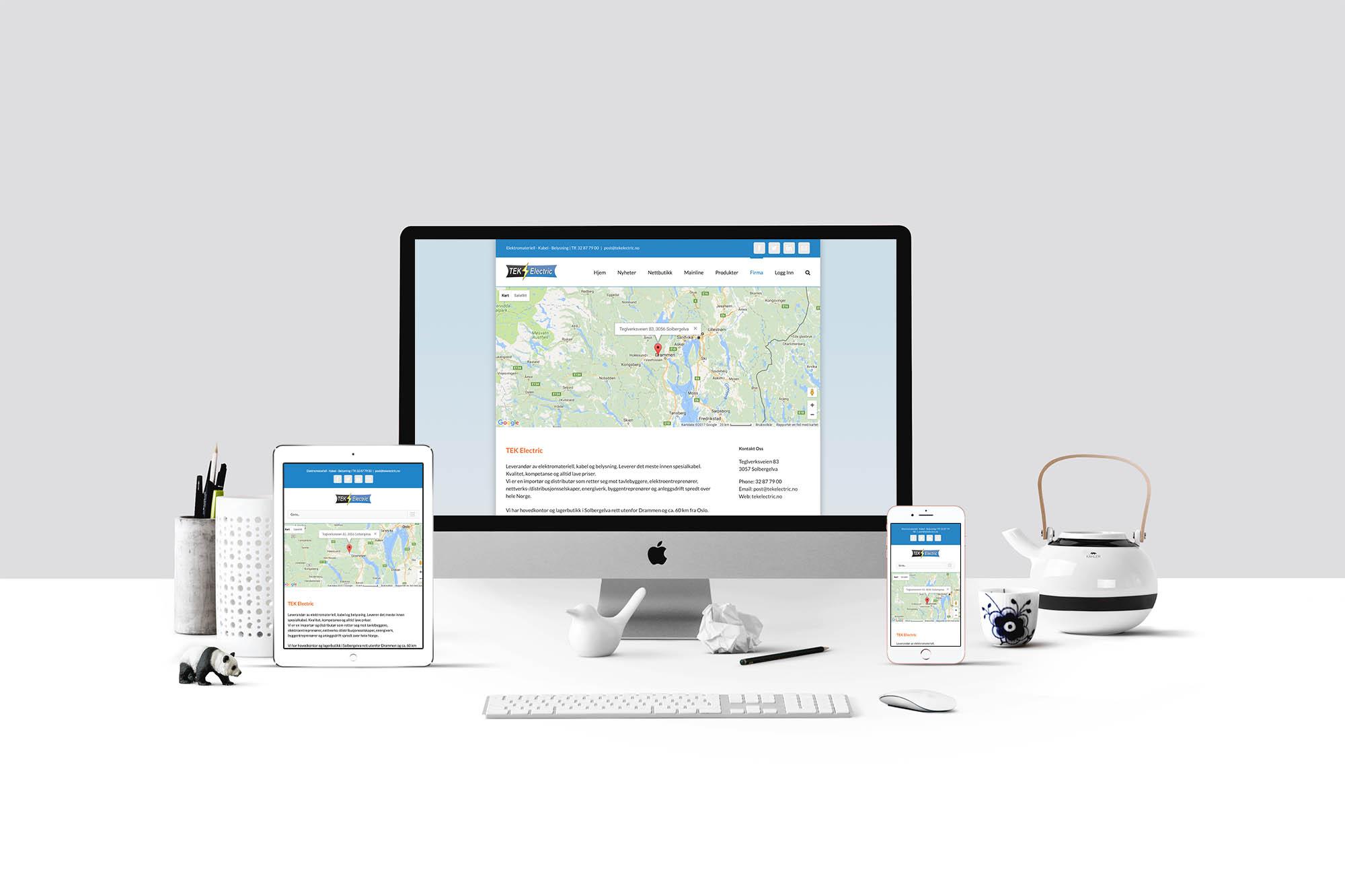 Design av responsiv nettside for både mobil, nettbrett og skjerm
