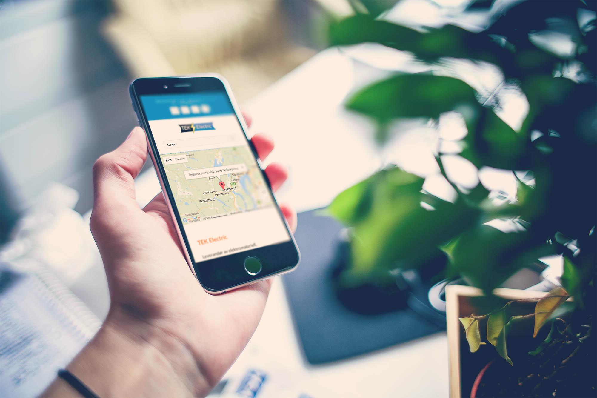Nettside for TEK Electric tilpasset mobil