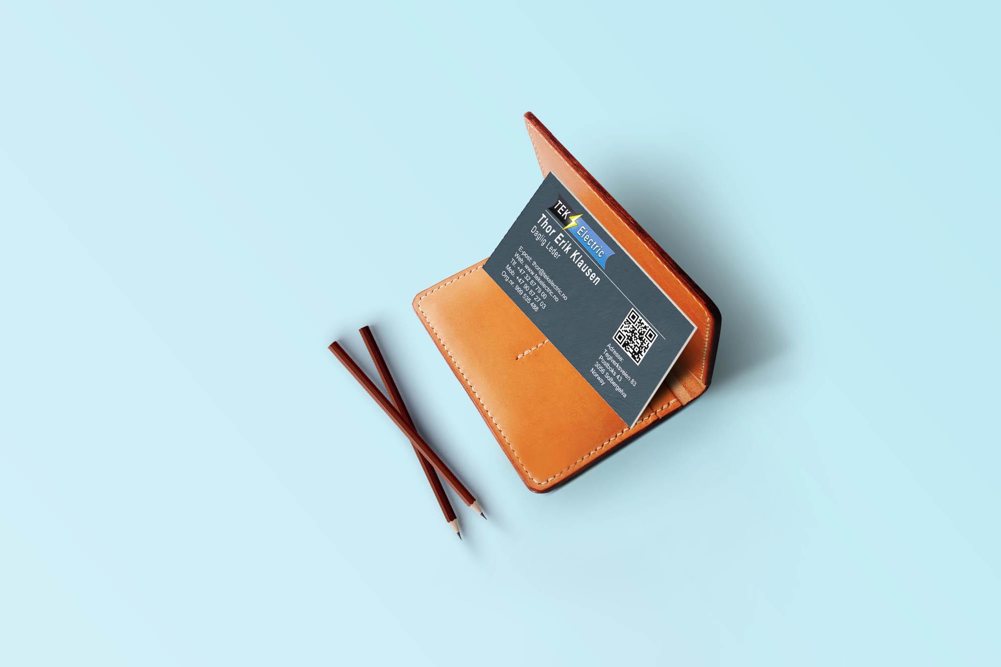Visittkort for TEK Electric