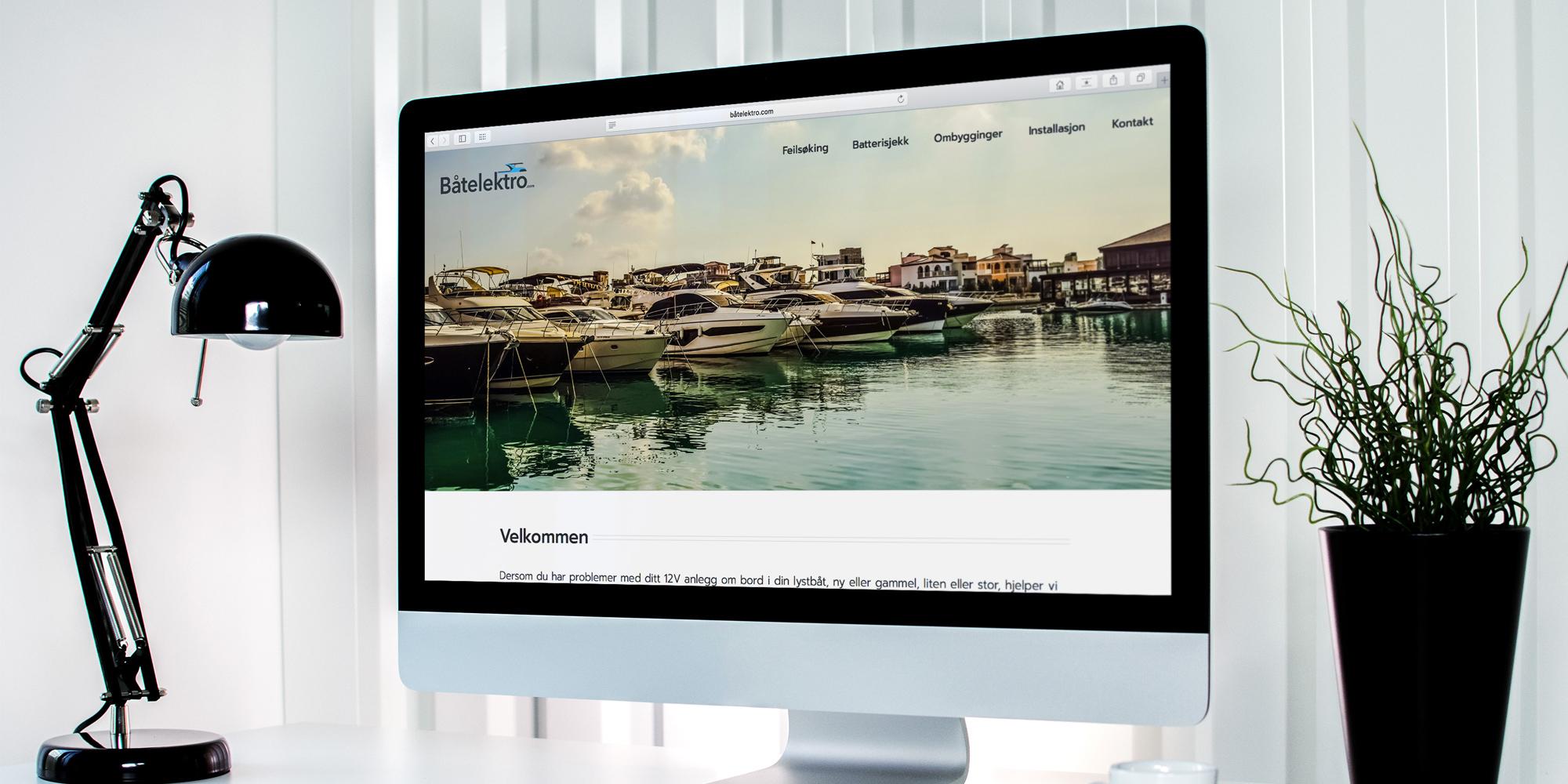 Design av logo og nettside for Båtelektro.com