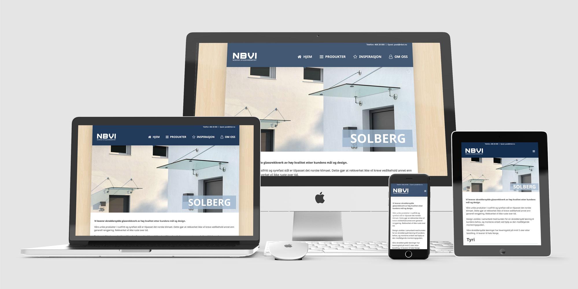 Design og utvikling av ny nettside for NBVI