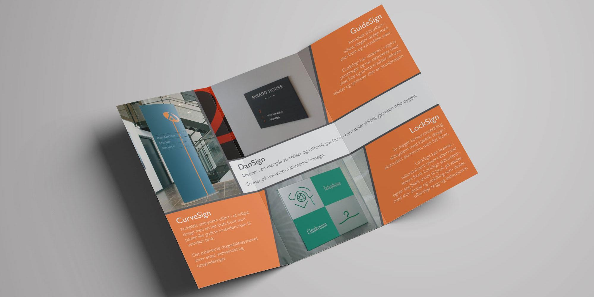 Design av brosjyre for IDE Systemer i Drammen