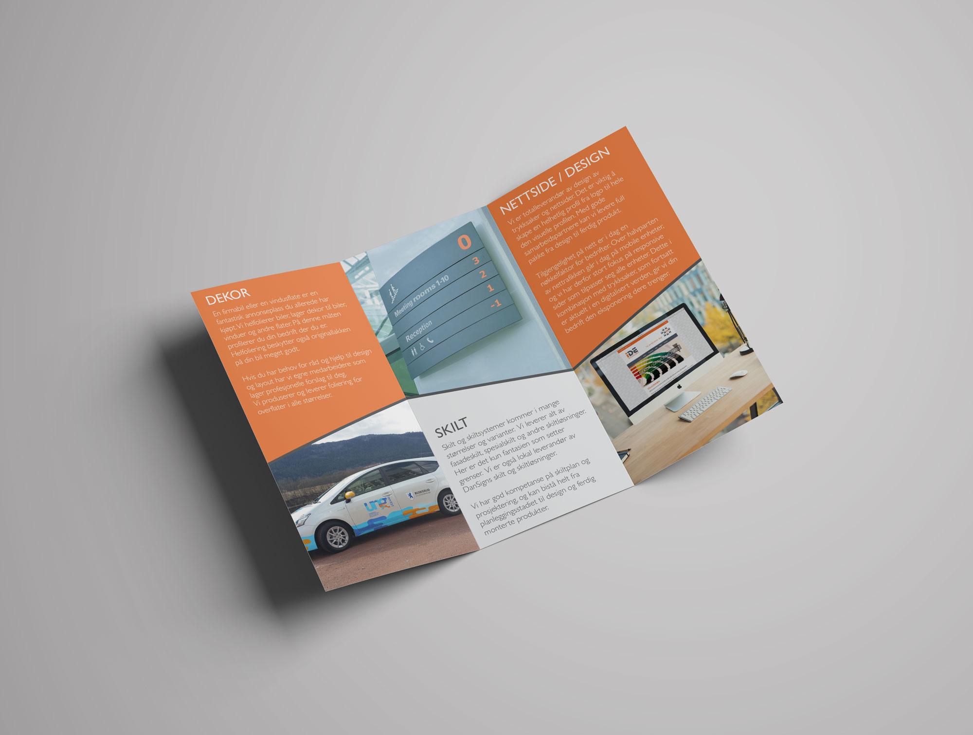 Brosjyre trifold design