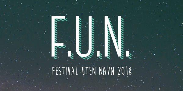 Design av identitet, plakater og logo for Festival Uten Navn.