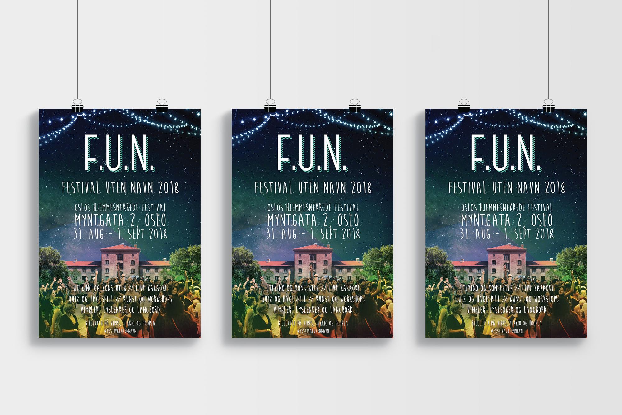 Plakater Festival Uten Navn 2018