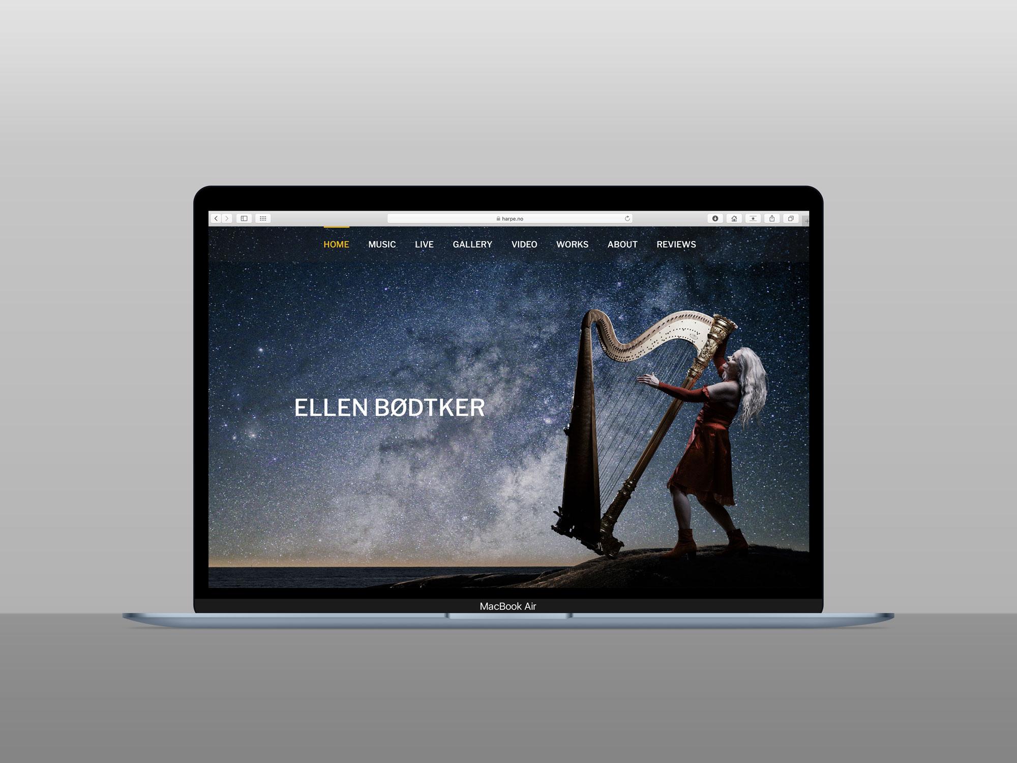 Den nye nettsiden til Ellen Bødtker er responsiv