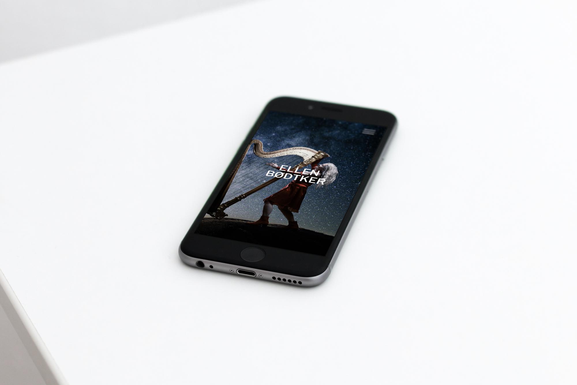 Ny nettside for Ellen Bødtker tilpasset mobil