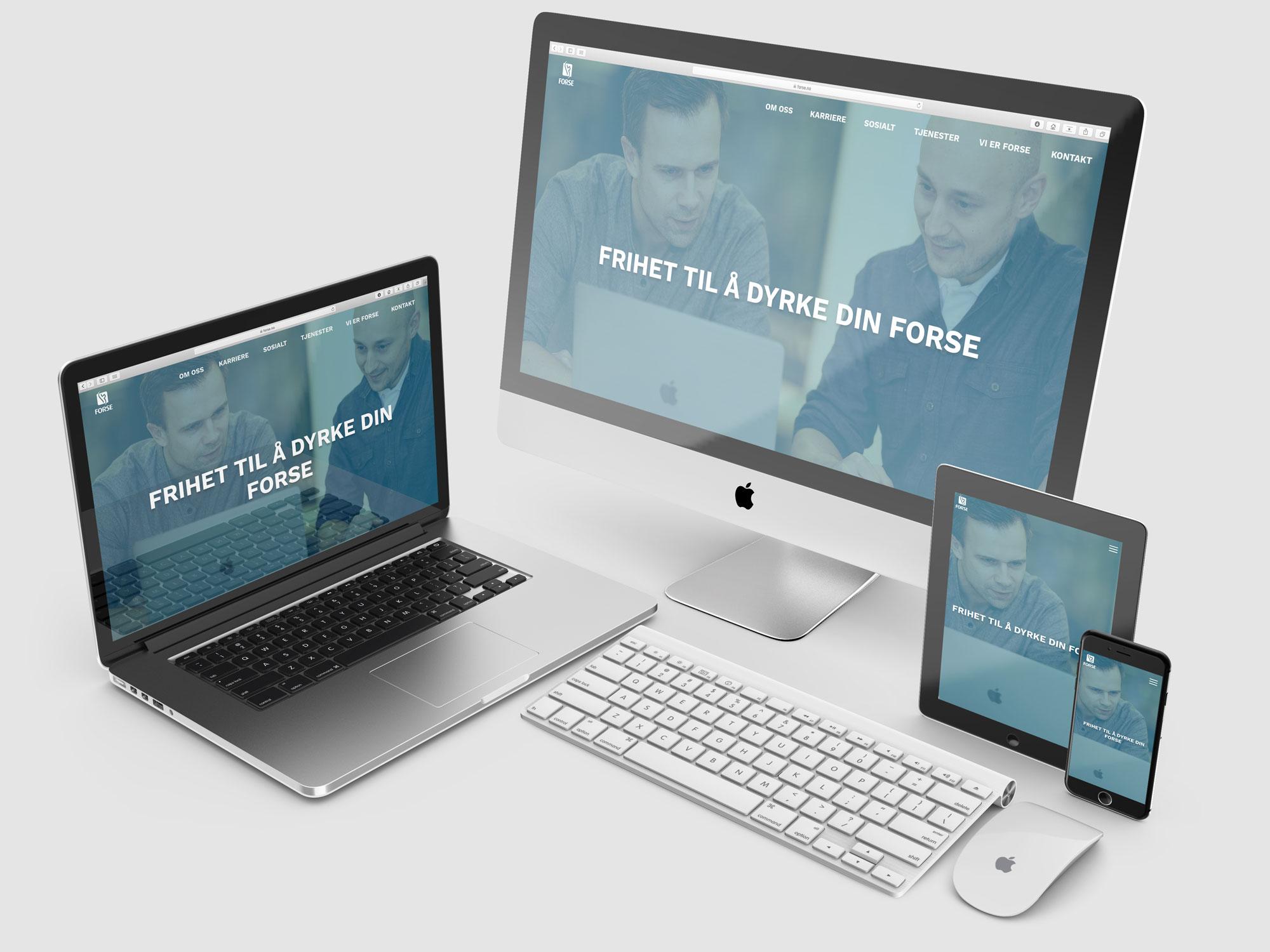 Design av konsept og nettside for Forse