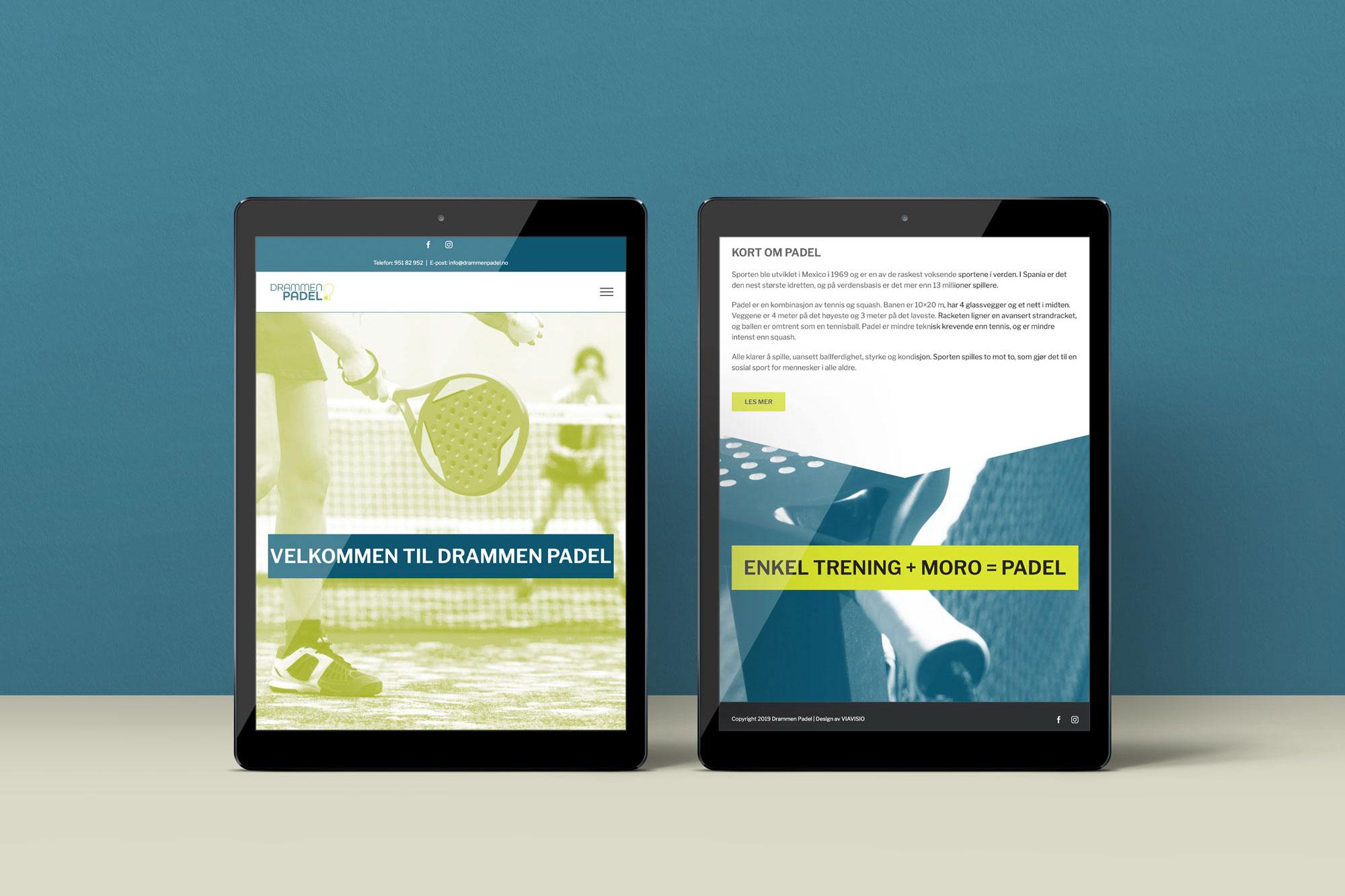 Nye nettsider på tablet