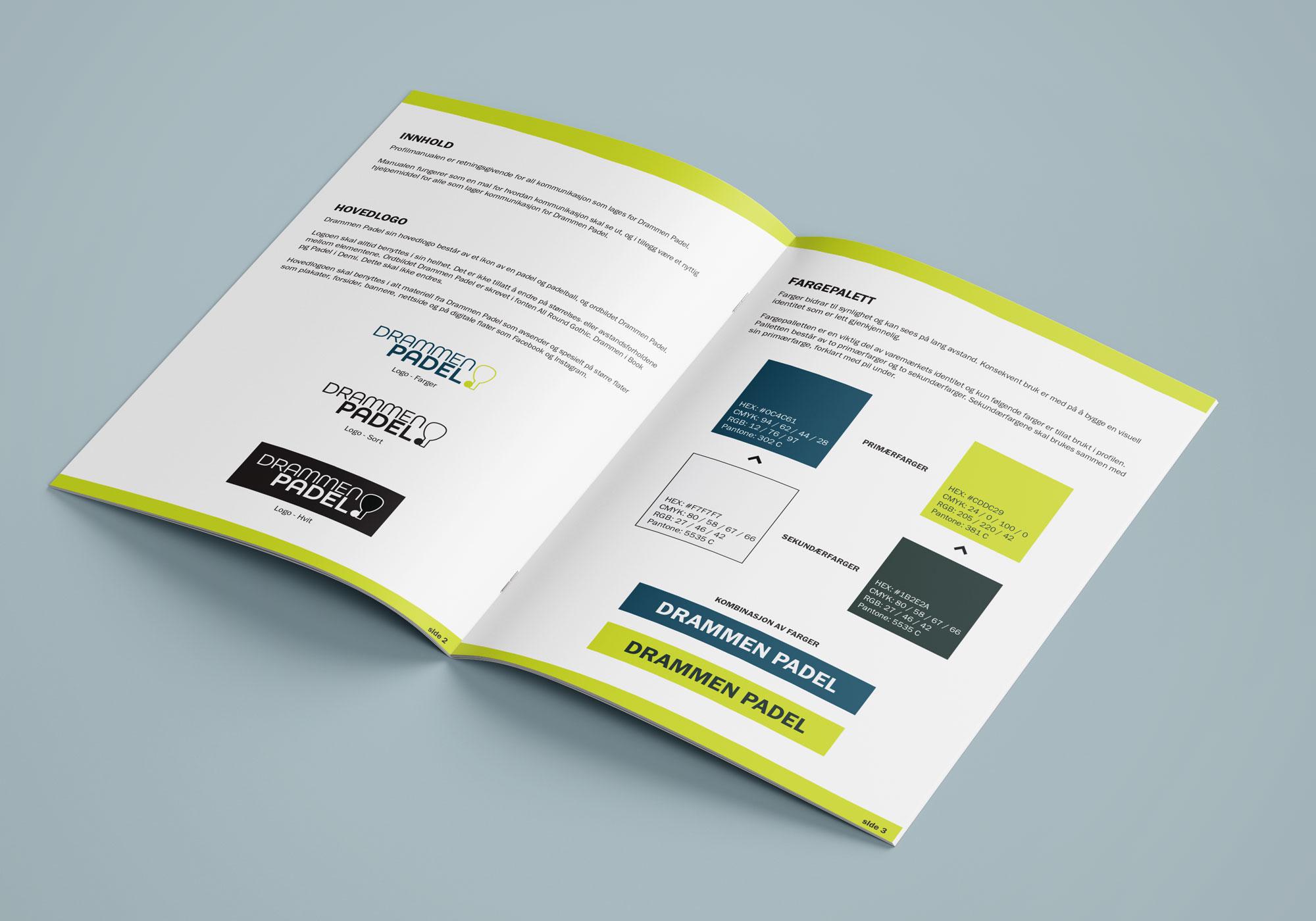 Profilhåndbok for Drammen Padel