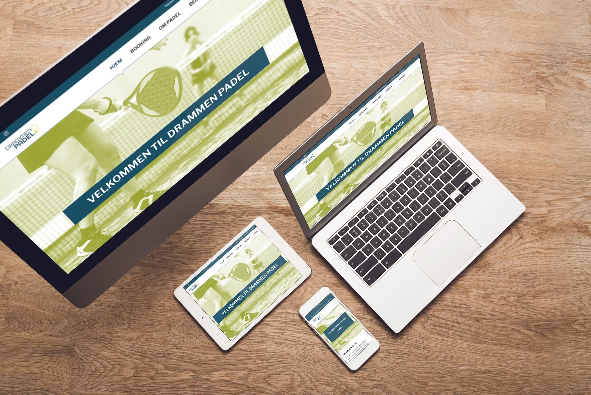 Drammen Padel nye nettsider