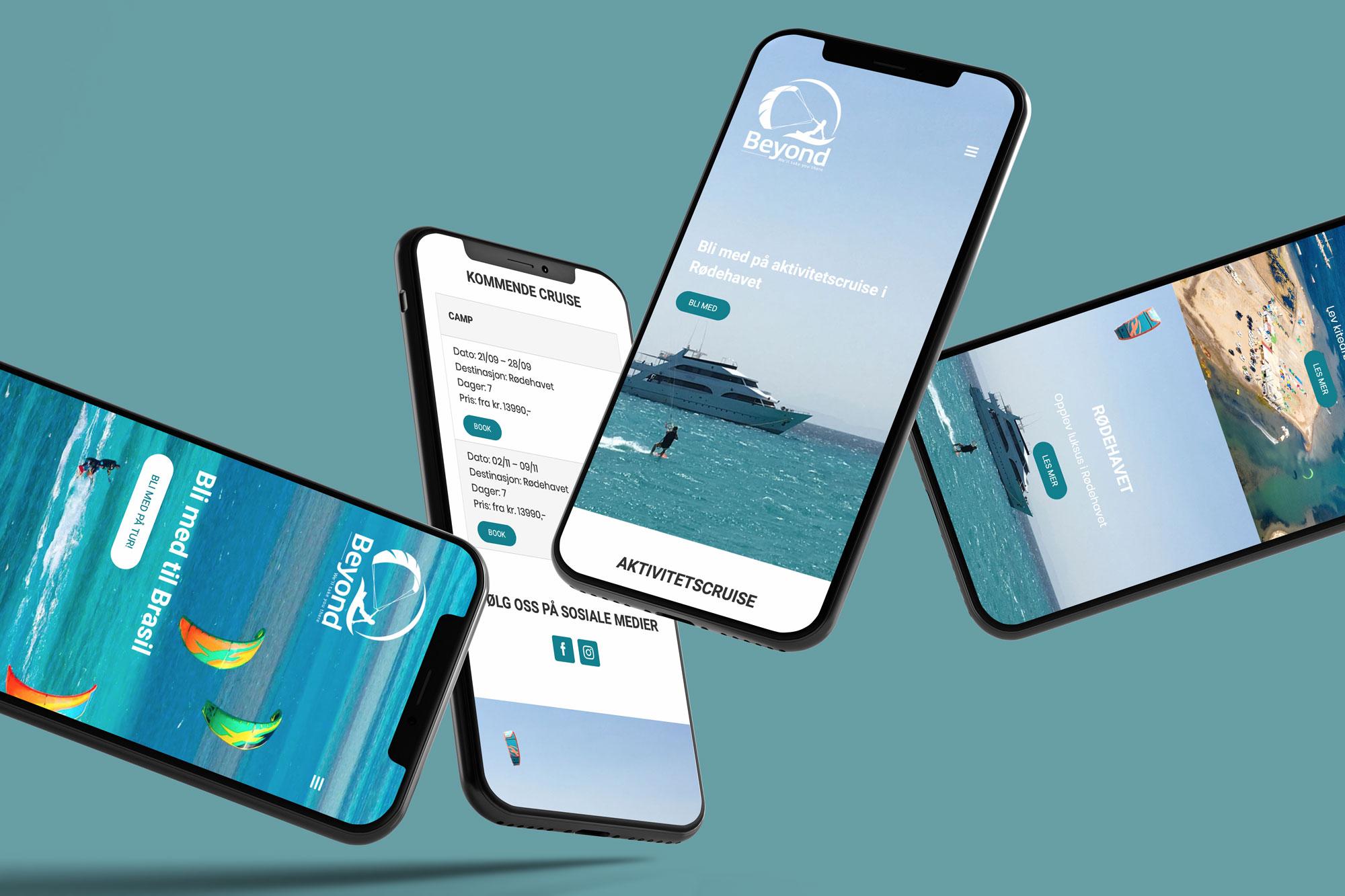 Nettsiden på mobil