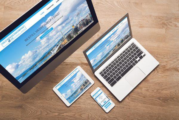 Responsive nettsider for Oslo Renholdskompani