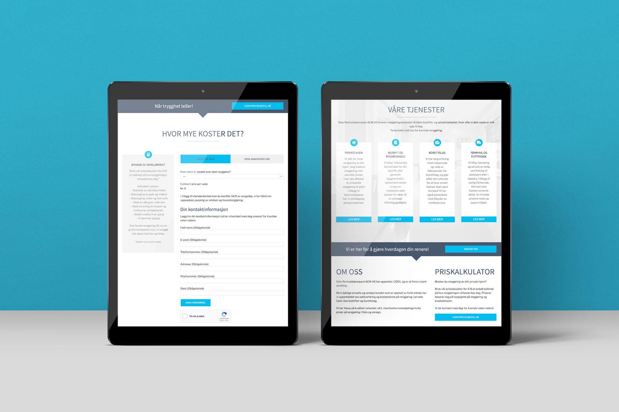 Responsive løsninger på tablet og mobil